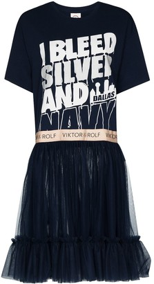 Viktor & Rolf Slogan-Print Panelled Dress