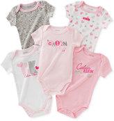 Calvin Klein 5-Pk. Bodysuits, Baby Girls (0-24 months)