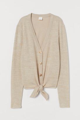 H&M Fine-knit Tie-hem Cardigan