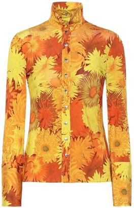 Ellery Sala floral stretch-jersey blouse