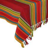 Caliente La Cocina Stripe Fringed Tablecloth