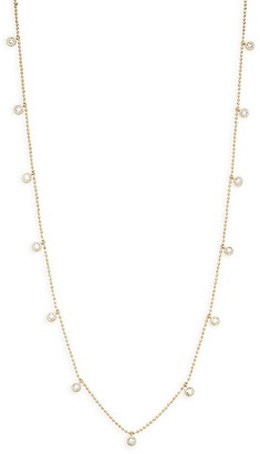 Saks Fifth Avenue 14K Gold Diamond Collar Station Necklace