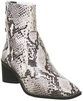 Office Achilles Unlined Block Heels Natural Snake Leather