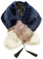 Steve Madden Color Blocked Faux Fur Collar