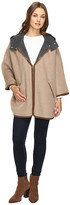 Ellen Tracy Double Face Hooded Cape
