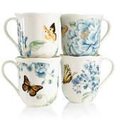 Lenox Dinnerware, Set of 4 Butterfly Meadow Blue Assorted Mugs