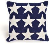 """Liora Manne Frontporch Stars 18"""" Pillow - Blue"""