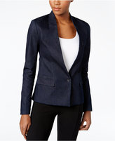 Calvin Klein Jeans Single-Button Denim Blazer