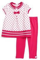 Little Me Dress & Legging Set (Baby Girls)