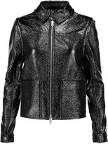 Tory Burch Fae faux patent-leather jacket