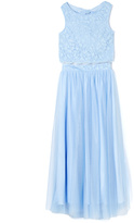 Speechless Periwinkle Lace Crop Top & Tulle Skirt Set - Girls