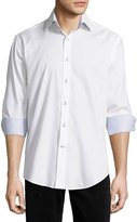 Neiman Marcus Long-Sleeve Button-Front Twill Shirt