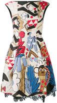 Talbot Runhof embroidered patch dress - women - Acetate/Polyester/Cupro/Silk - 38