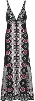 Temperley London Flux satin jacquard maxi dress