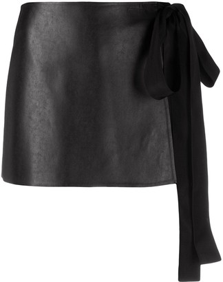 Ermanno Scervino Side-Tied Mini Skirt
