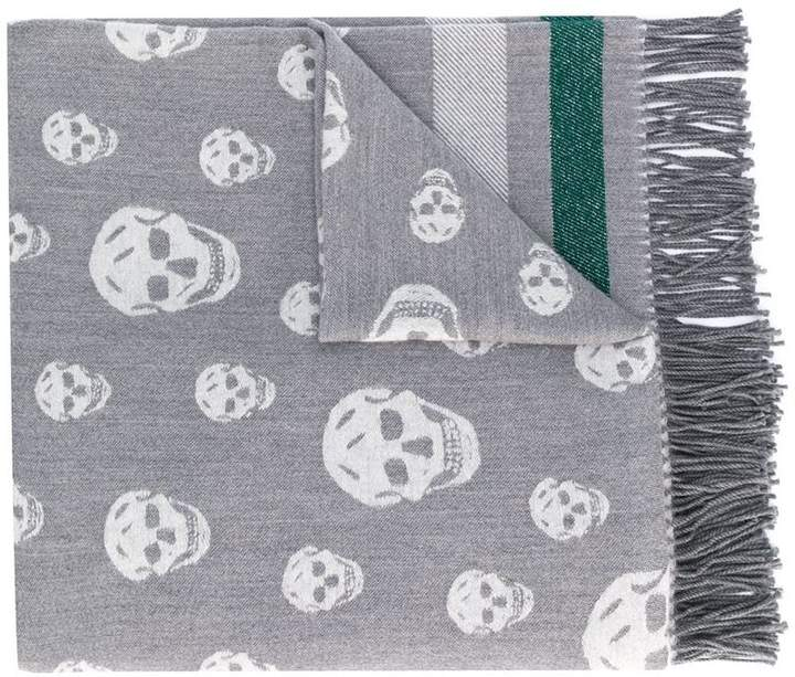 Alexander McQueen Skull embroidered scarf