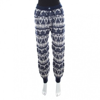 Chanel Navy Cashmere Trousers