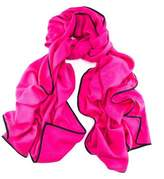 Black Lex Magenta and Scarf - Cashmere and Silk