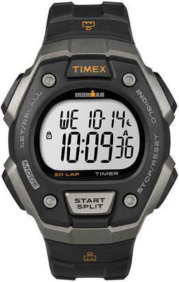 Timex Ironman Mens Black Bezel Black Resin Strap 30-Lap Chronograph Sport Watch T5K8217R