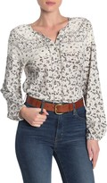 Lucky Brand Floral Bishop Sleeve Blouse