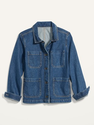 Old Navy Medium-Wash Jean Chore Jacket for Women