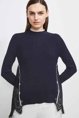 Karen Millen Lace Back Knit Jumper
