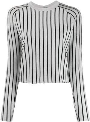 Proenza Schouler metallic striped knitted top