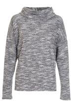 Quiz Grey Light Knit Roll Neck Top