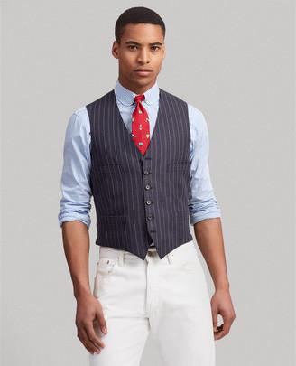 Ralph Lauren Polo Striped Linen-Wool Vest