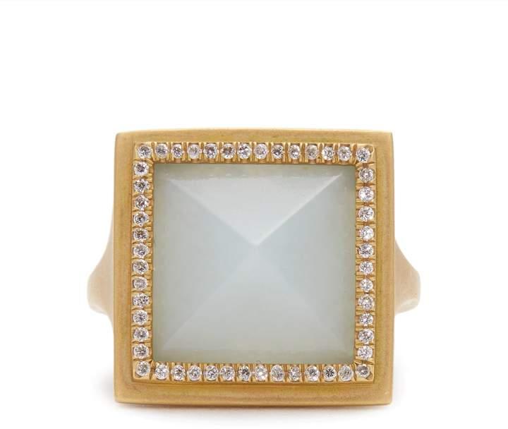 Monique Péan Diamond, jade & yellow-gold ring