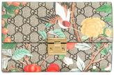 Gucci Padlock GG Blooms pouch wallet