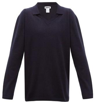 Hope Treat V-neck Wool-blend Sweater - Mens - Blue