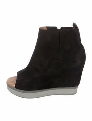 MM6 MAISON MARGIELA Suede Boots Black