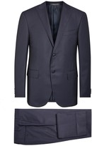 Corneliani Midnight Blue Wool Jacquard Suit