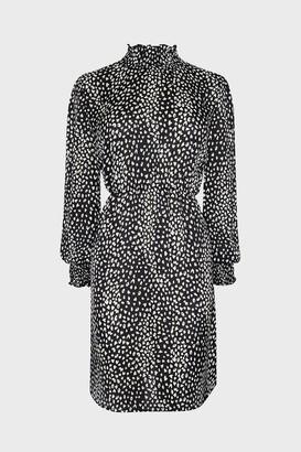 Coast Shirred Neck Animal Printed Midi Dress