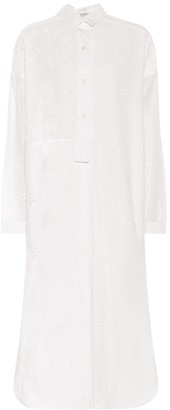 Loewe Cotton broderie anglaise shirt dress