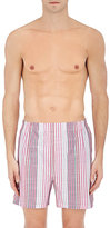 Barneys New York MEN'S STRIPED COTTON BOXER SHORTS