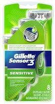Gillette Sensor3 Sensitive Men's Disposable Razors - 8 count