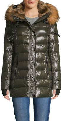 S13 S 13/Nyc Chelsea Faux Fur-Trim Down Puffer Jacket