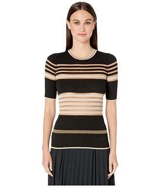 M Missoni Short Sleeve Tee in Sheers Stripes
