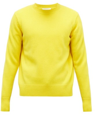 Studio Nicholson Crew-neck Wool-blend Sweater - Mens - Yellow