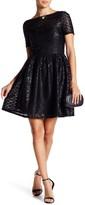 Minuet Sequin Stripe Mid Dress