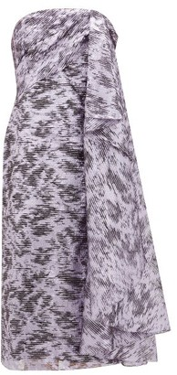 Halpern Draped Lame Fil-coupe Organza Dress - Womens - Purple