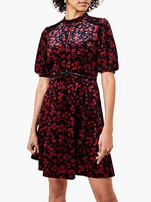 Oasis Molly Floral Skater Dress, Multi