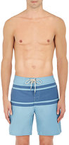 Faherty MEN'S STRIPED TECH-POPLIN SWIM TRUNKS