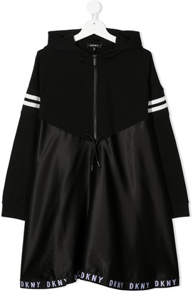 DKNY TEEN hooded skater dress