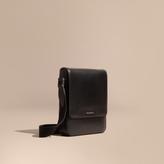 Burberry London Leather Crossbody Bag, Black