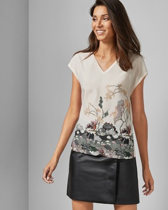 Ted Baker Willow Woven Front T-shirt