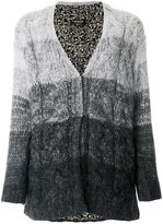 Twin-Set ombré knitted cardigan - women - Polyamide/Viscose/Mohair/Wool - S