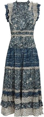 Ulla Johnson Kiri Sleeveless Printed Midi Dress